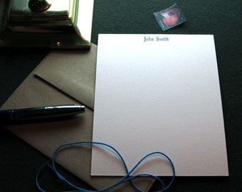 Custom Letterpress Stationery - 10 Personalized Notecards – Engravers Text