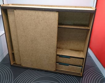 IKEA inspired miniature natural MDF wood modern wardrobe, 1/12 scale for dollhouses