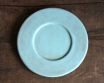 Candle Plate Distressed Wooden Plate Teal Decor Cottage Home Decor Robins Egg Blue Plate Centerpiece Plate Decorative wood Plate & Candle Plate Red Distressed Plate Distressed Wooden Plate