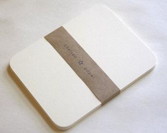 "4.25""x5.5"" Natural White Round Corner Flat Cards for A2 Envelopes -50/Pk"