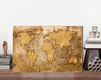 Brown World map, Rustic world Map, World Map, Metal sign, Map metal sign, Map of the world, Map Sign, World map Vintage, Vintage World map