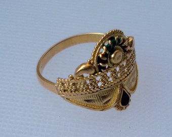 vintage 20k gold ring handmade gold jewelry