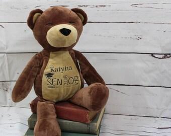 "Personalized Graduate Senior 2018 High School Memento! 15"" Teddy Bear Graduation Gift"