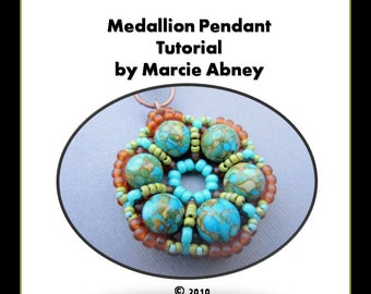 Beading Beadweaving Tutorial Instructions Pattern Beads Jewelry Making Lessons Beaded Jewelry Instant Download PDF Handmade Tutorial