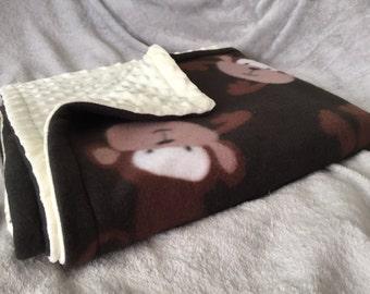 Monkey Pattern Baby Blanket
