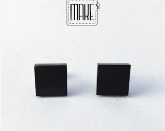 Hand made geometrical earrings, minimal, PVC, Da Lobo