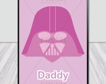 Star Wars Print, Darth Vader, Wall Art, Fashion Print, Movie Poster.