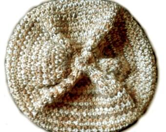 Heather beige slouchy Hat