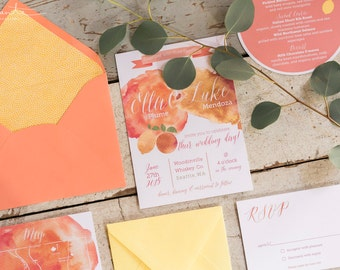 Citrus Countryside Wedding Invitation Suite (set of 20)