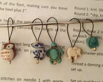 Knitting Stitch Markers Set of 5