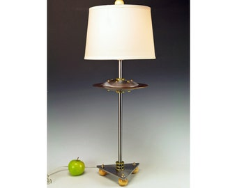 Table lamp flying saucer UFO lamp artdeco machine age atomic steam punk mid century modern googie Arizona minimalist unique cool lamps  #238