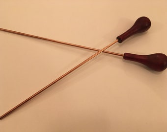 Copper and Turned-wood Hairstick