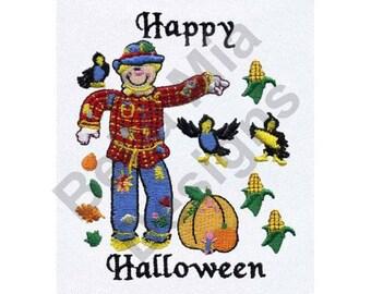 Halloween Scarecrow - Machine Embroidery Design, Fall, Autumn