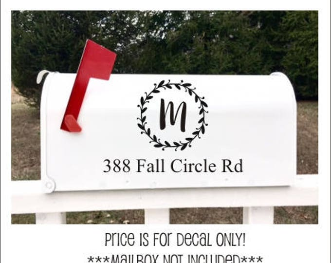 Rustic Mailbox Decals Set of Two Vinyl Decals for Mailbox Vinyl Monograms Address Decals Country Rustic Address Curb Appeal Home Decor