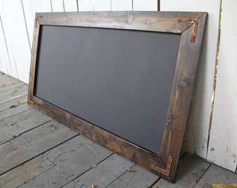Large Rustic Farmhouse Magnetic Chalkboard | Modern Rustic | Wall Hanging | Rustic Sign | Shabby Chic | Wedding | Kid | Reclaimed