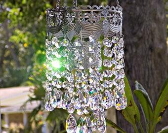 Wedding Chandelier Centerpiece Decoration, Lead Crystal Tealight Wedding Chandelier, Crystal Chandelier Candle Holder