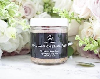 Himalayan Rose Bath Salts | Bath and Body Products | Spa |Bride | Salt Baths | Wholesale | Wedding | Romance | relax