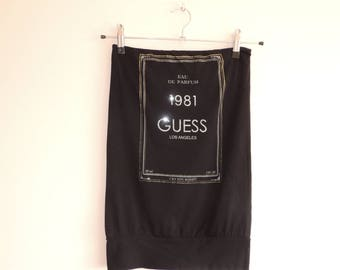 FREE SHIPPING - GUESS black tube top with stones, Eau De Parfum, 1981