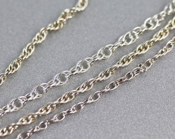 Sterling Silver Double Rope Chain - 18 Inch - Cable Chain - 1.4 to 2.2mm