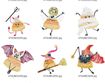Halloween-Candy-Corn ( 10 Machine Embroidery Designs from ATW )