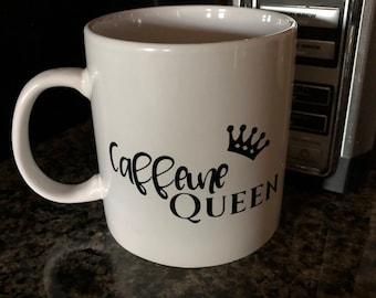Coffee mug | Caffeine Queen coffee mug | coffee lover mug