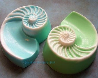 Shell Soap, Nautilus Soap, Beach Soap, Ocean Seashell, Novelty Soap, You Pick Scent & Color