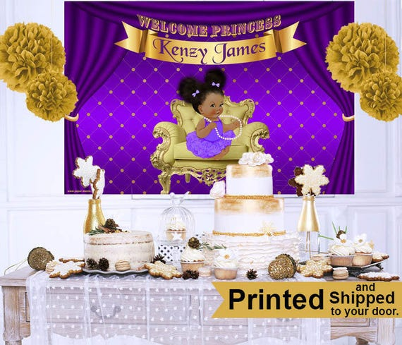 Royal Princess Baby Shower Cake Table Backdrop Princess Baby