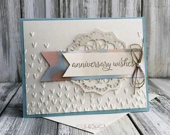 Stampin Up Handmade Greeting Card, Anniversary Card