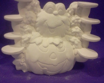 Spider Pumpkin Candy saver ready to paint