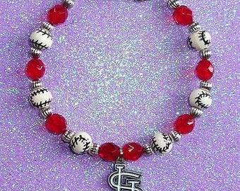 St Louis Cardinals Handmade Bracelet