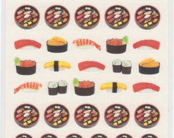 Sushi Stickers - Paper Stickers - Reference T4264-65H6007-09