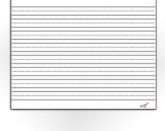 lined paper printable kindergarten