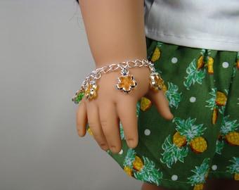 "Flower Charm Bracelet for 18"" Play Dolls such as American Girl® Nanea"
