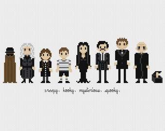 The Addams Family Cross Stitch Pattern PDF Instant Download