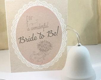 Bridal Shower Card - Retro Vintage Wedding, Gatsby Wedding, Gift for Bride, Bride-to-Be, Art Deco - Digital Download or Print
