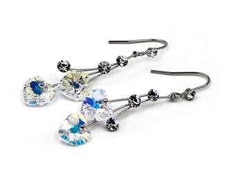 Elegant citrines Heart Earrings