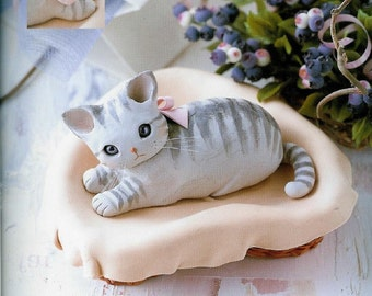 Japanese Craft e-Book Cute Clay Cats Clay Modelling / Figure Making-Instant   Download PDF eBook#19