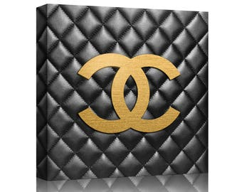 Chanel Classic Canvas Print Art Chanel Art Fashion Art