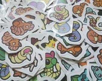 Vector Pokemon Die-cut Stickers