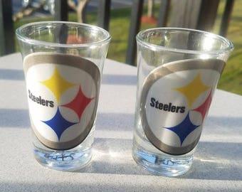 Steelers Shot Glass Set of 2 - Shotglasses - New