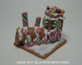 12th scale miniature handcrafted Gingerbread Train