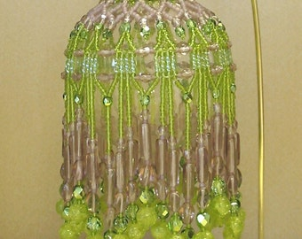 Beaded Fancy Fringed Ornament Cover - Beading Instructions - Spring Wine