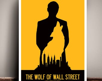 The Wolf Of Wall Street // Leonardo DiCaprio // Martin Scorsese // Minimalist Movie Poster // Unique Art Print