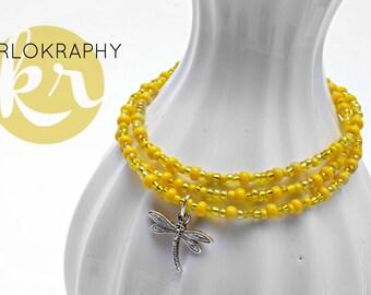 Wrap bracelet ~ 3 x ~ yellow | Orange