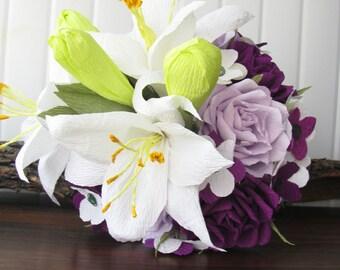 Purple bouquet | Etsy