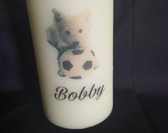 Personalised Pet Memorial Candles