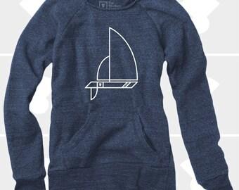 Sailboat - Women's Slouchy Sweatshirt