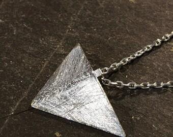 Silver Triangle Pendant, Geometric pendant, triangle pendant, silver pendant,