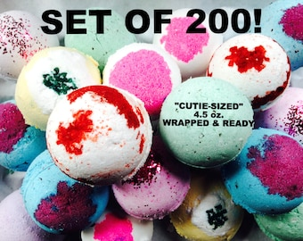Wholesale Private Label Bath Bombs Set of 200 FREE SHIPPING! For orders over 200/Choose your size! Choose your Scent! Enter in Notes at Chec