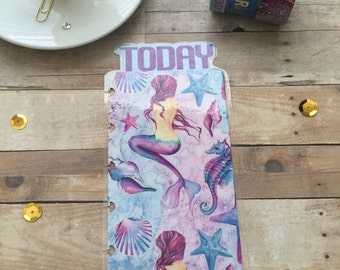 Planner Bookmark/mermaid/watercolors/today